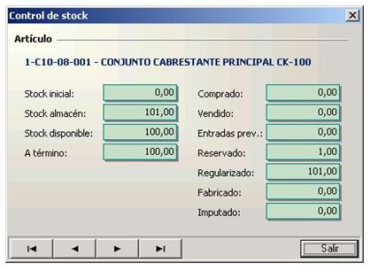 Control almacen proleanerp